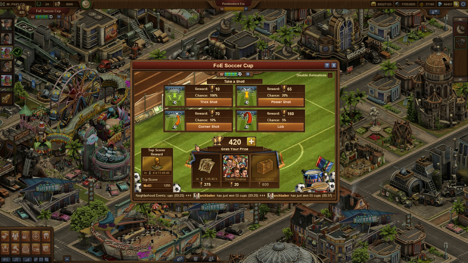 Forge of Empires Soccer Cup Begins