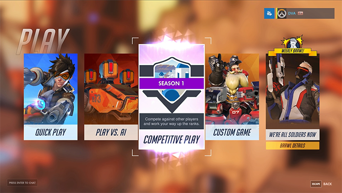 Overwatch Competitive Play Now Live