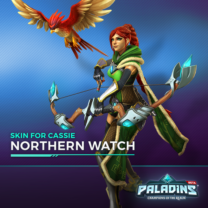 paladins northern watch cassie skin giveaway mmohuts