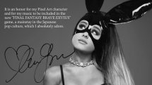 Final Fantasy Brave Exvius Ariana Grande Announcement