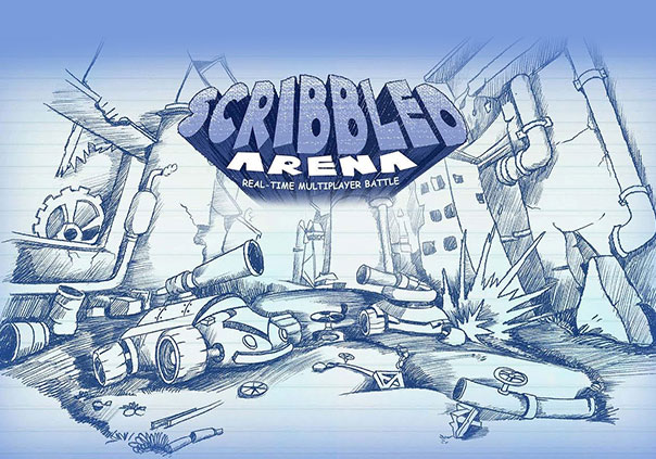 Scribbled Arena Game Profile Banner