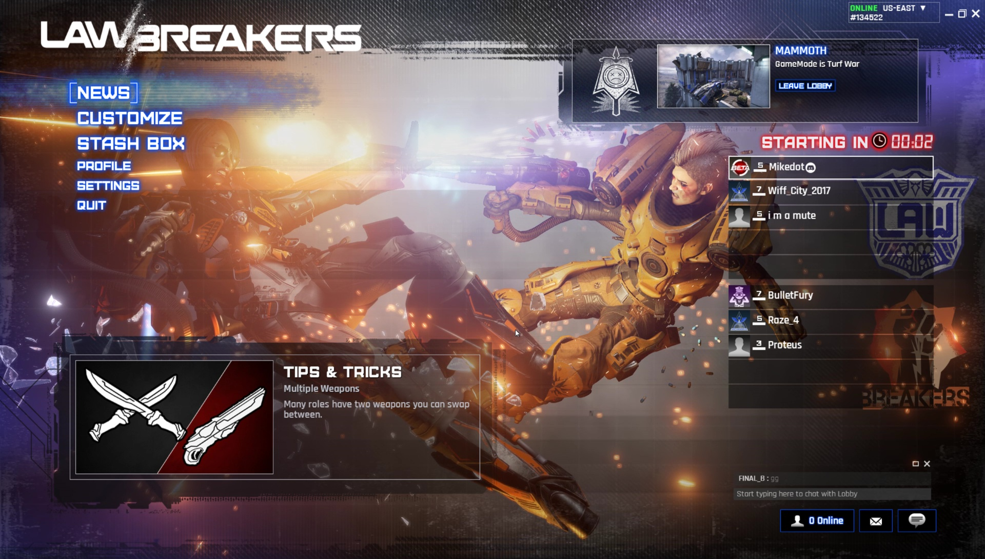 LawBreakers CBT - 1