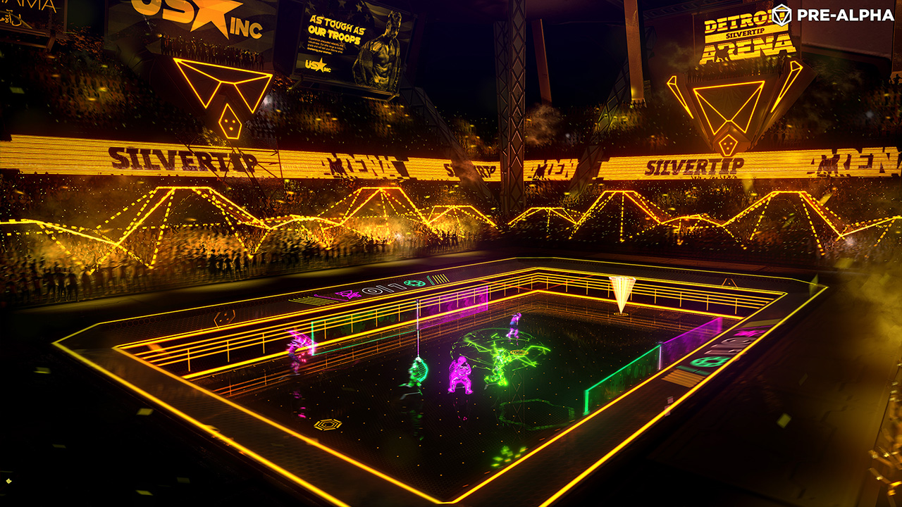 Laser League Screenshot - Detroit Arena