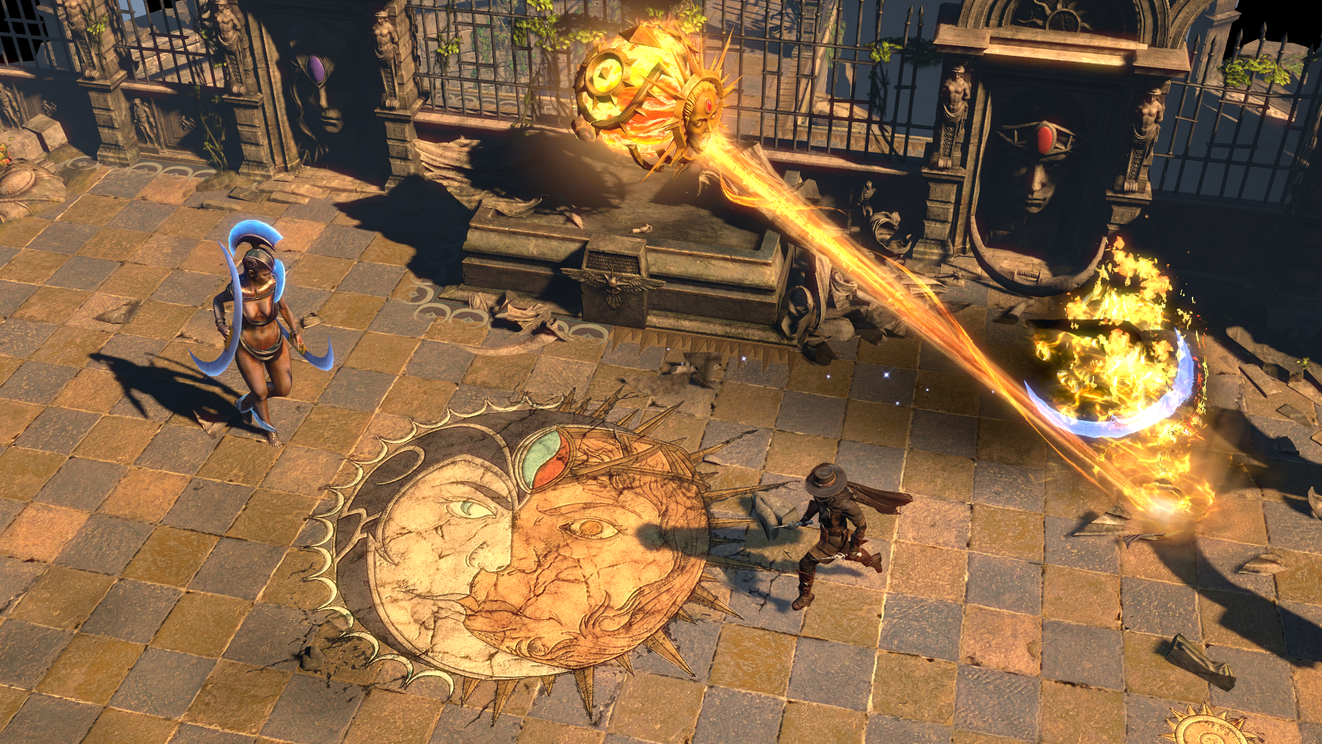 Path of Exile Solaris and Lunaris Battle Screenshot