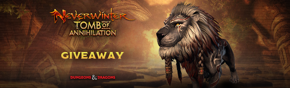 Neverwinter Ash Tribal Lion Giveaway (PC) Banner