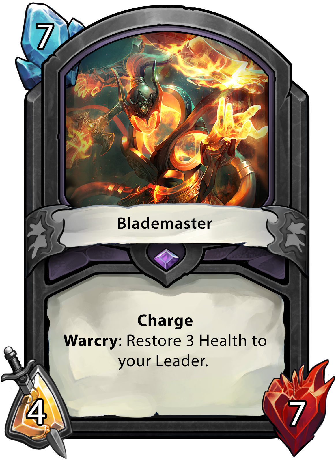 Hand of the Gods Blademaster Card
