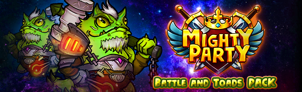 Mighty Party Battle and Toads Pack Giveaway Banner