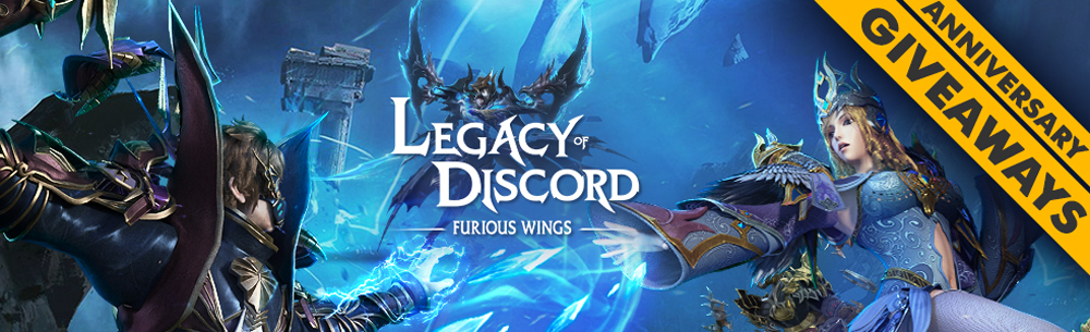 Legacy of Discord Furious Wings Anniversary Giveaway MMOHuts Banner
