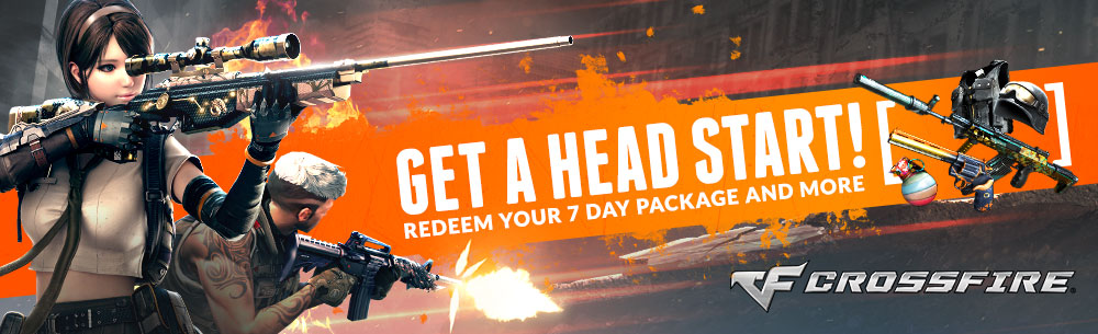 Crossfire Headstart Weapon Package Giveaway Wide Banner
