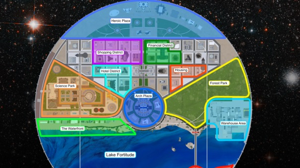 City of Heroes - Apotheosis City Map