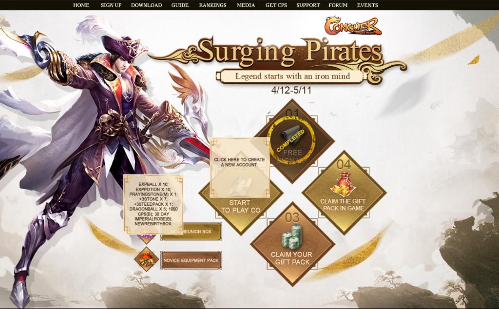 Conquer Online Event Screenshot