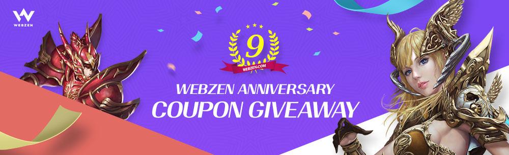 Webzen 9th Giveaway Wide Banner