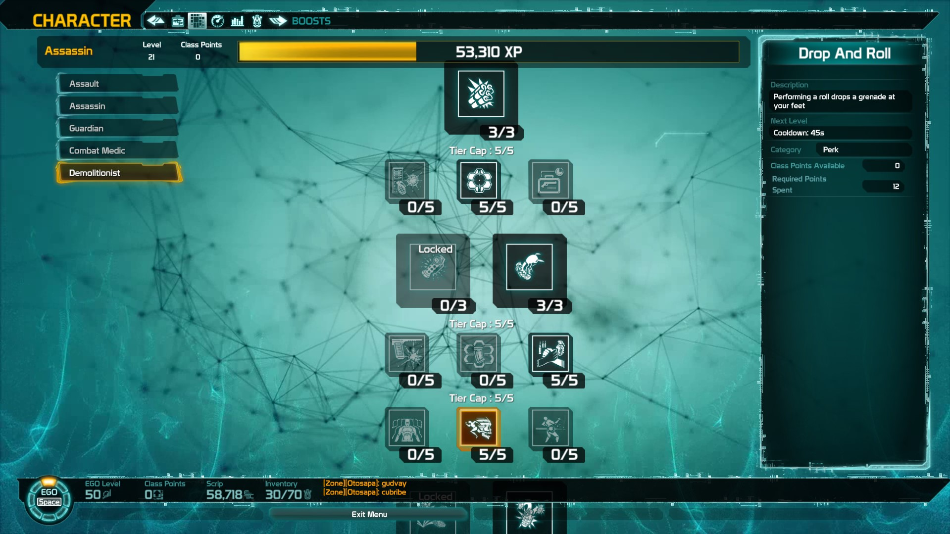 Defiance 2050 Ego Tree