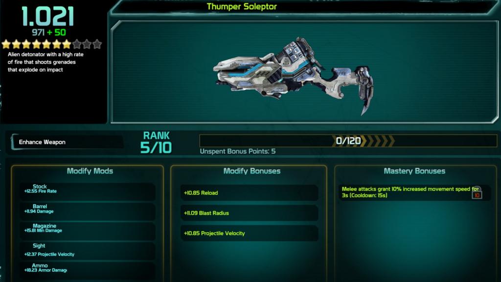 Defiance 2050 Weapon Tree