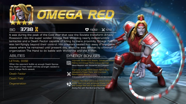 Marvel Contest of Champions Omega Red Header