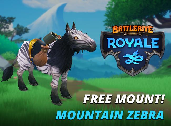 Battlerite Royale Free Zebra Mount