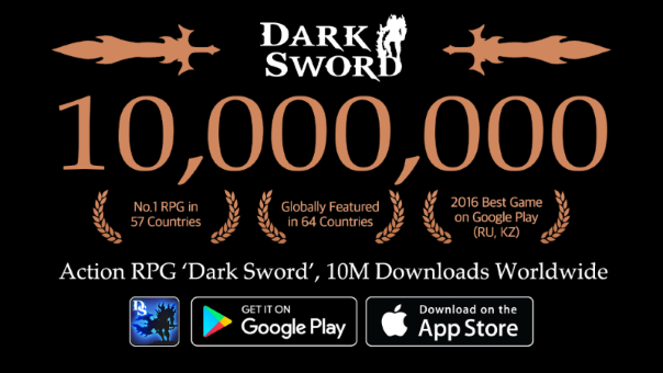 Dark Sword Ten Million Downloads -image