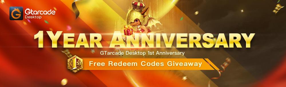 GTArcade 1 Year Giveaway Wide Banner