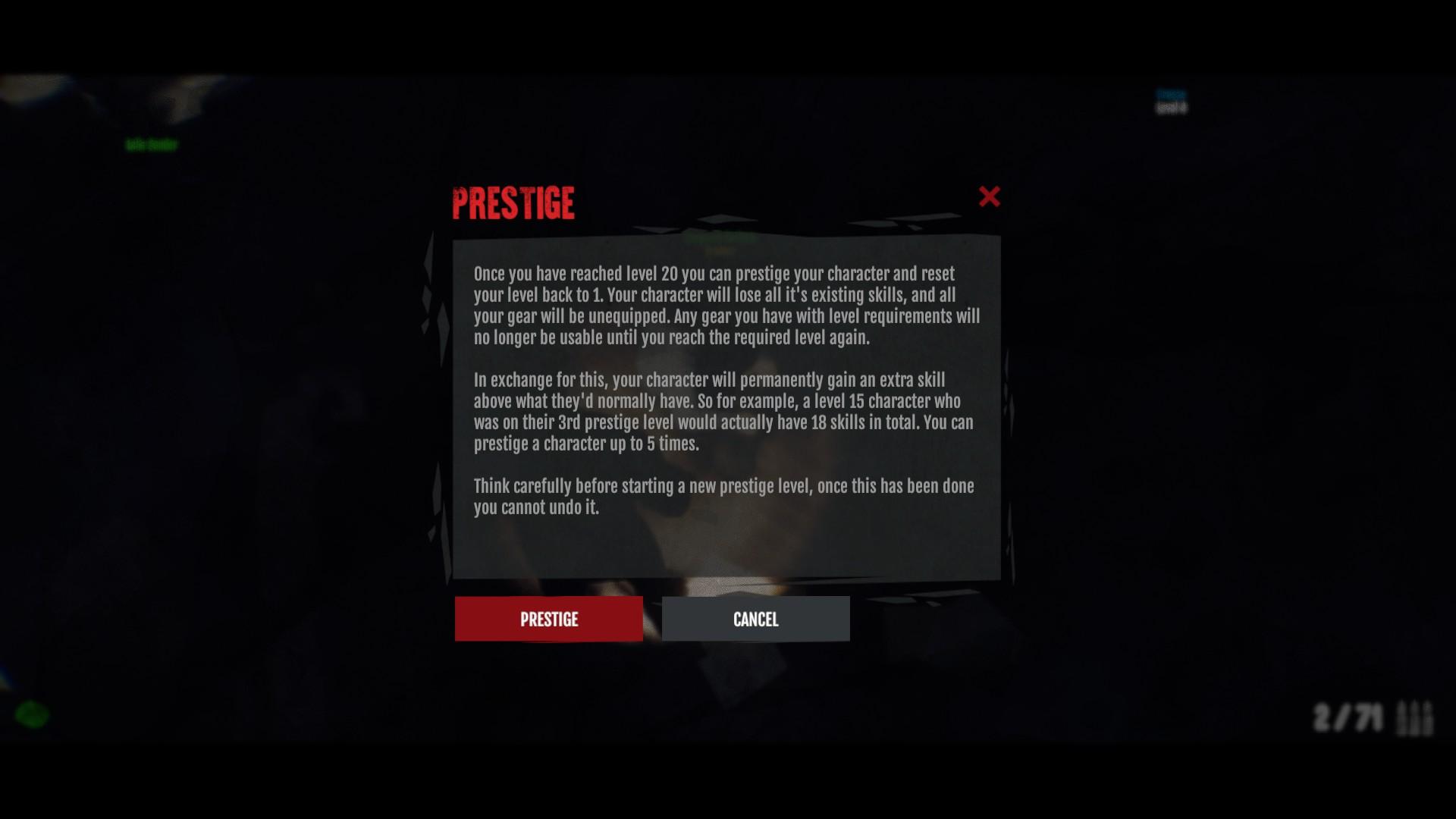 Dead Frontier 2 Prestige