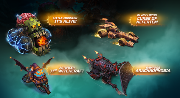 Heavy Metal Machines Halloween Event Extended Splash Art
