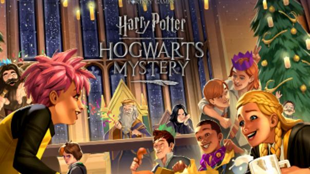 Christmas at Hogwarts splash art