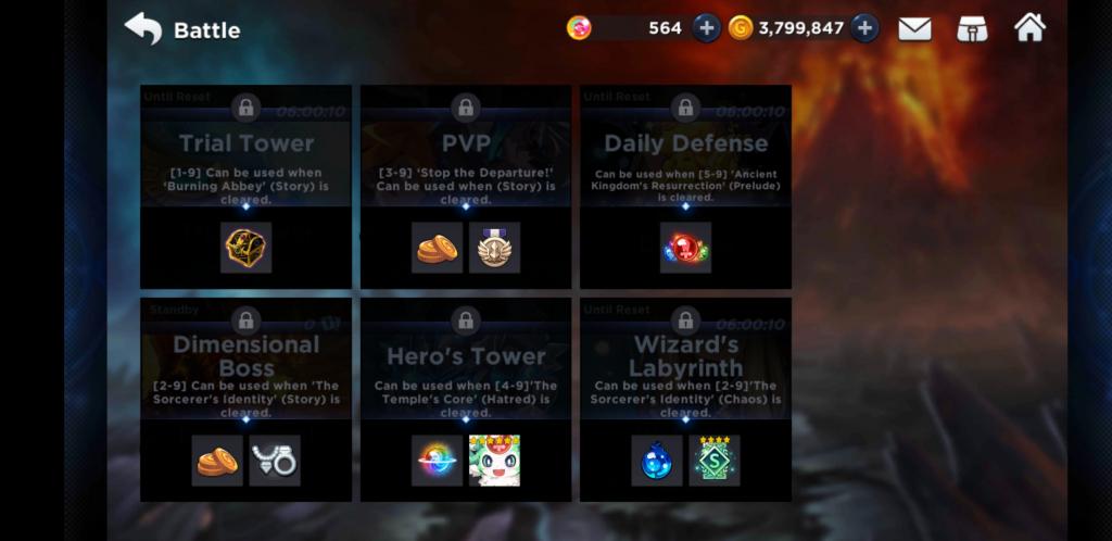 GrandChase Mode Screen