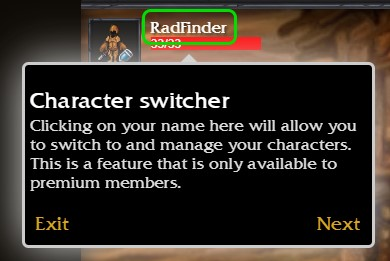 Initium Character Switcher