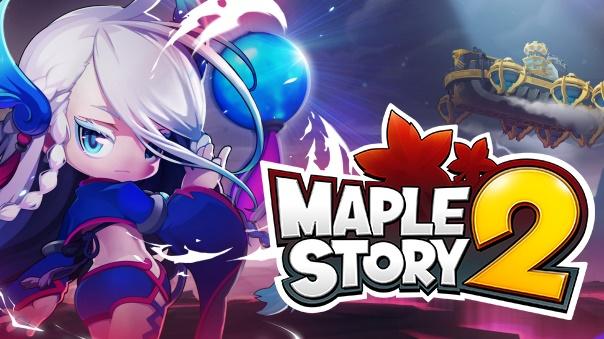 MapleStory 2 Skybound Key Art With Logo