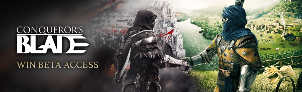 Conqueror's Blade CBT Key Giveaway MMOHuts Banner