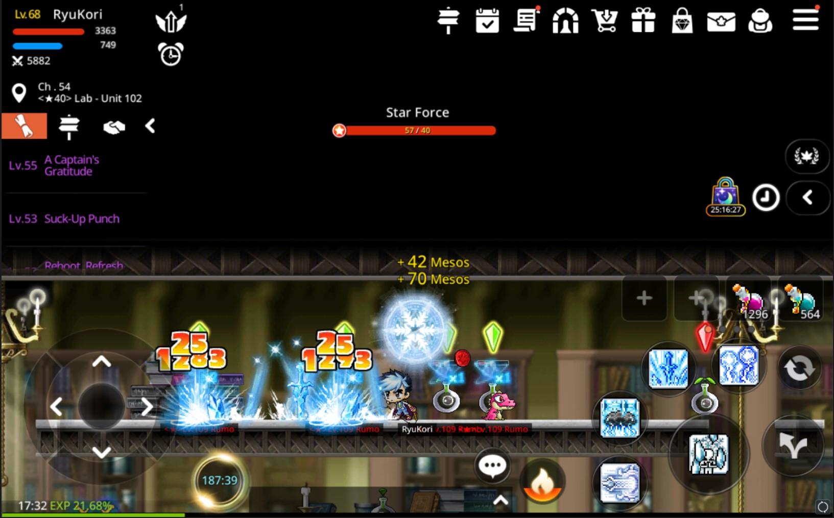 MapleStory M Arch Mage Gameplay Screenshot