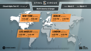 Steel Circus Closed Alpha Server Times
