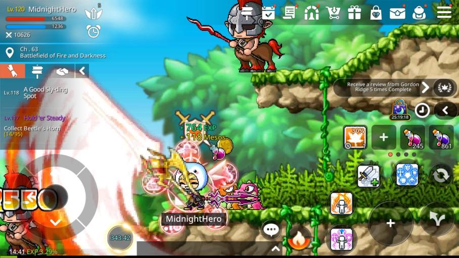 MapleStory M Hero Gameplay Screenshot