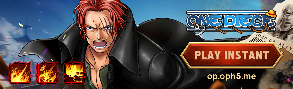 One Piece H5 Giveaway Wide Banner