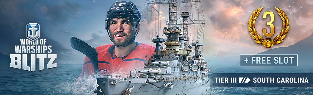 World of Warships Blitz Ovechkin Giveaway Wide Banner