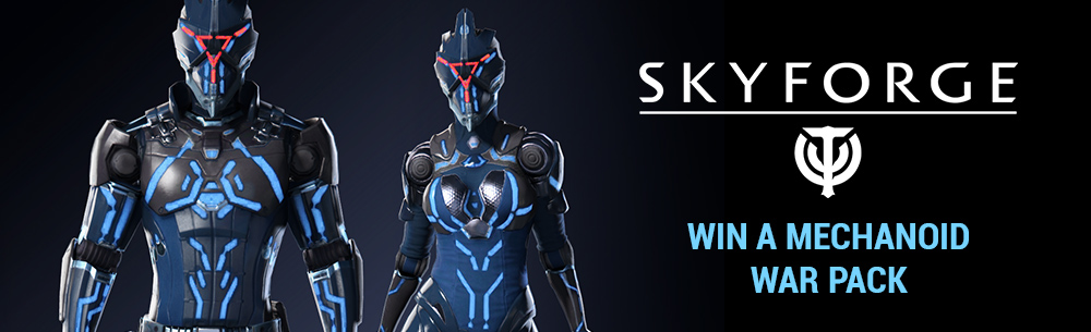 Skyforge Mechanoid War Pack Giveaway Banner
