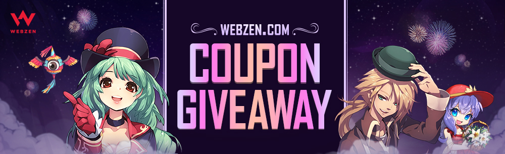 Webzen 10th Anniversary Coupon Giveaway Wide Banner