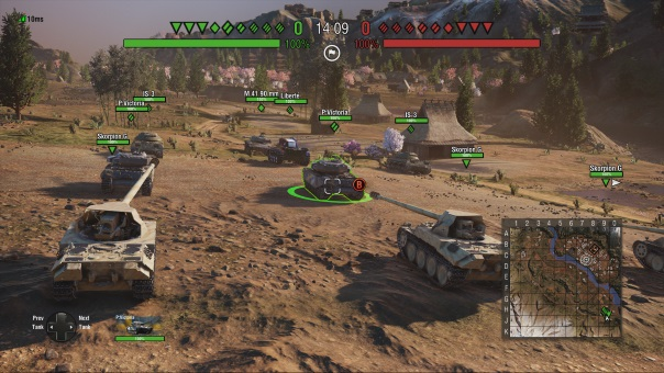 World of Tanks 4.10 Console