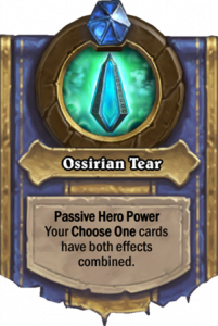 Hearthstone Savior of Uldum - Ossrian Tear