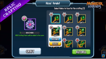Monster Legends Relic crafting UPDATE