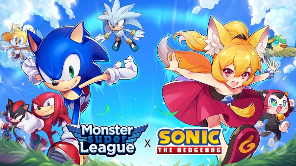 Monster Super League x Sonic Collaboration main image