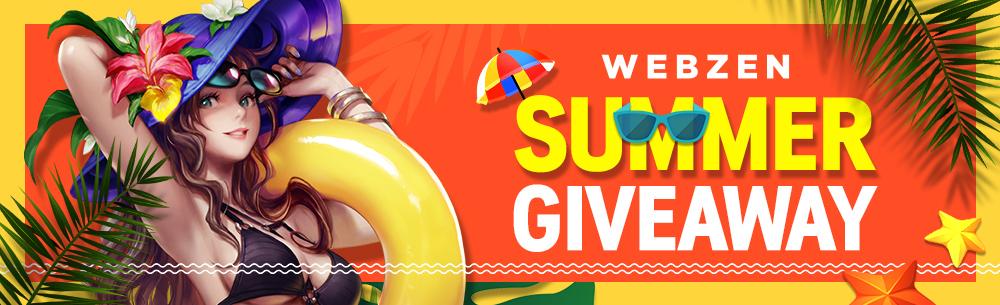 Webzen Summer 2019 Giveaway Wide Banner