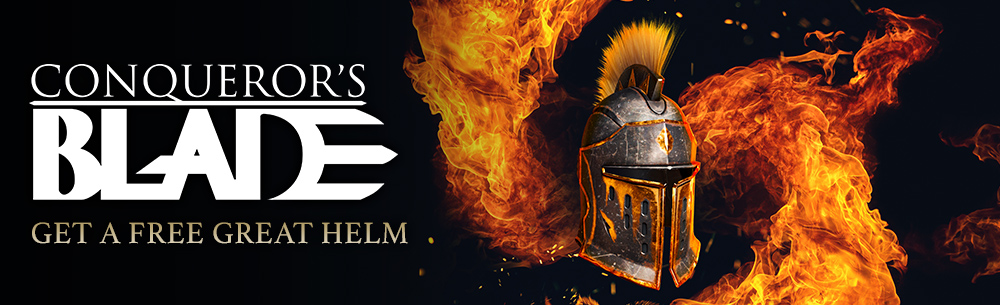 Conquerors Blade Great Helm Giveaway Wide Banner