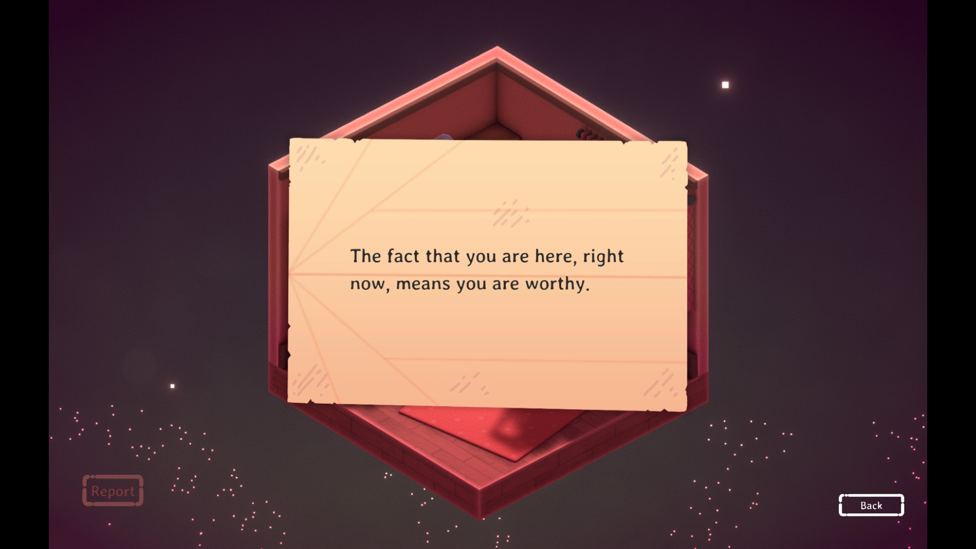Kind Words Screenshot - Airplane Received