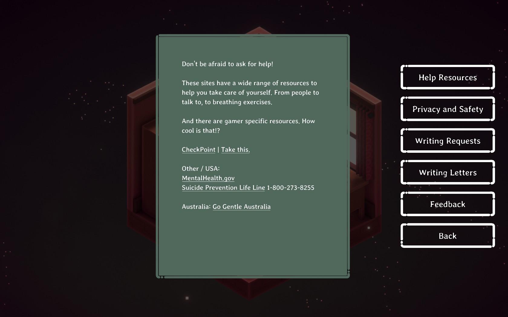 Kind Words Screenshot - Resources