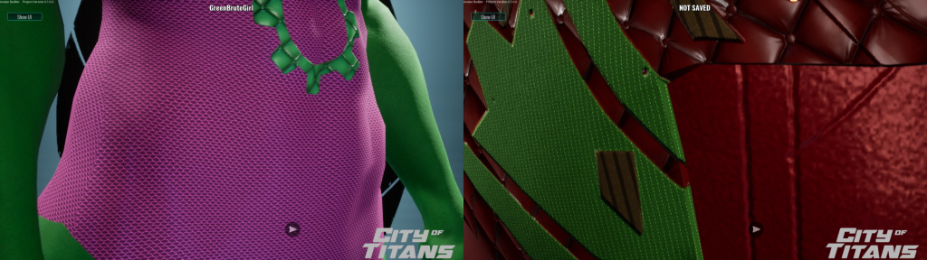 City of Titans Avatar Builder Textures