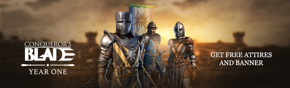 Conquerors Blade Anniversary Giveaway banner