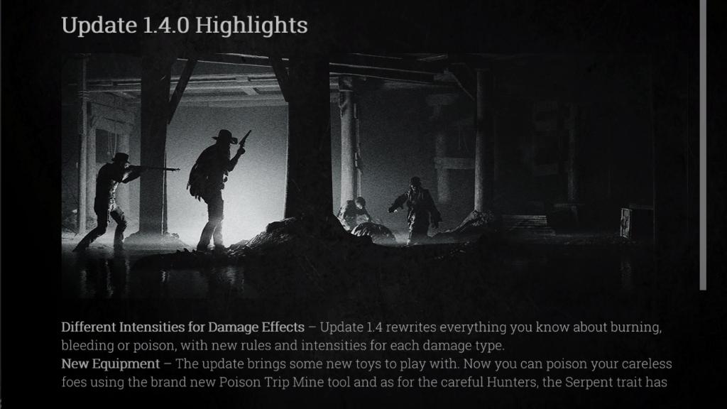 Hunt Showdown 1.4 Update