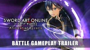 SAO Alicization Lycoris Battle Gameplay Trailer