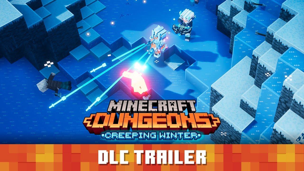 Minecraft Dungeons Creeping Winter DLC Launch